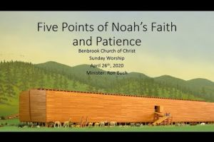 Five Points of Noah's Faith and Patience