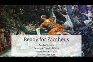 Are You Ready for Zaccheus