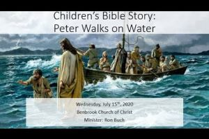 Children's Bible Story: Peter Walks on Water