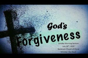 God's Forgiveness 2020 07 26