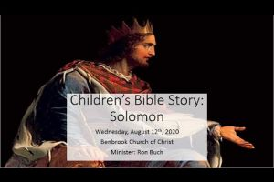 Children's Bible Story Solomon
