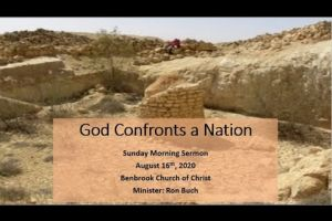 God Confronts a Nation